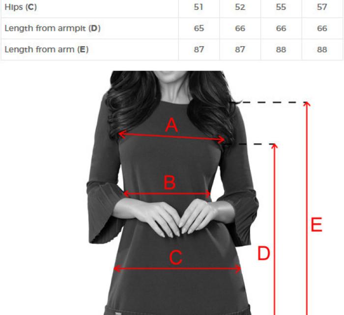 Pohodlné dámské plisované šaty v broskvové barvě model 7245112