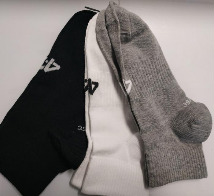 Pánské ponožky 4F SOM302 Šedé_Bílé_Černé (3páry)