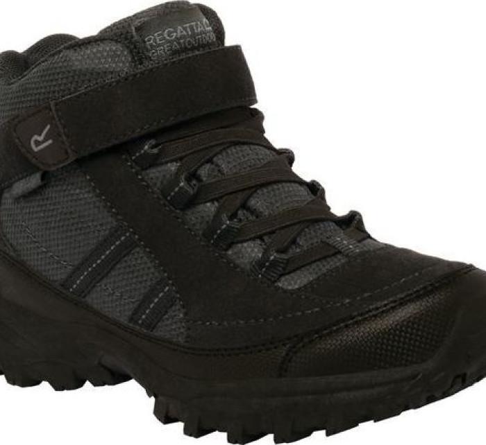 Dětská trekingová obuv REGATTA  RKF511  Trailspace II Mid Černá