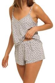 Dámské pyžamo QS6306E-VGT šedá - Calvin Klein