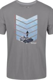 Pánské tričko Regatta RMT214 Breezed Šedé