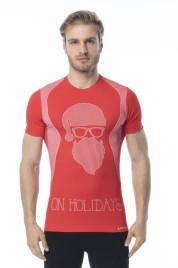 Pánské funkční tričko s krátkým rukávem IRON-IC - Hipster - červená Barva: Červená, Velikost: