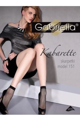Dámské ponožky Gabriella kabaretky 151